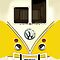 Yellow Volkswagen VW with chrome logo iphone 4 4s, iPhone 3Gs, iPod Touch 4g case by www. pointsalestore.com