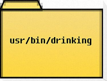 Drinking User  - Geek Cards by bertadp