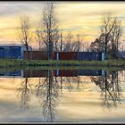 Sunset at the Industrial Lagoon by Mikell Herrick