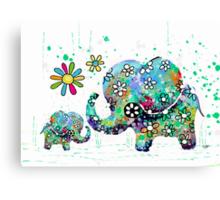 blooming elephants Canvas Print