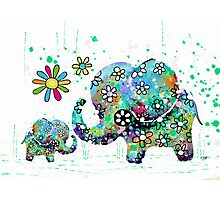 blooming elephants Photographic Print