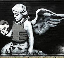 Banksy - Angel holding skull by MooseGeneral