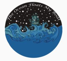 The Ocean Floats My Boat - Sticker by wanungara