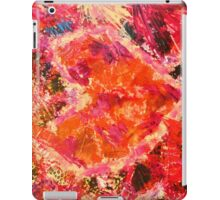 MEND ME - Broken Heart Abstract Artwork Bright Bold Crimson Magenta Black Leopard Print iPad Case/Skin