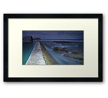 The Pumphouse Corner, Merewether Ocean Baths Framed Print