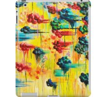 HERE COMES THE RAIN - Abstract Acrylic Painting Rain Storm Clouds Colorful Rainbow Modern Impasto iPad Case/Skin