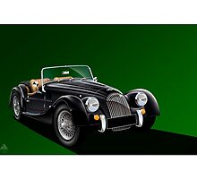 Morgan Sports car Illustration by Autographics