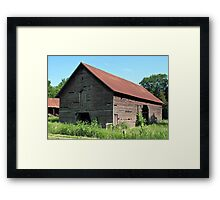 A Simple and Old Timey Barn Framed Print