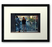 Watching the World: the High Line Framed Print