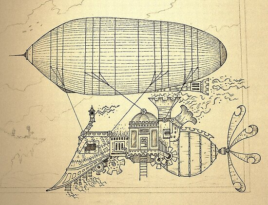 Steampunk Flying Machine Drawings Images amp Pictures Becuo