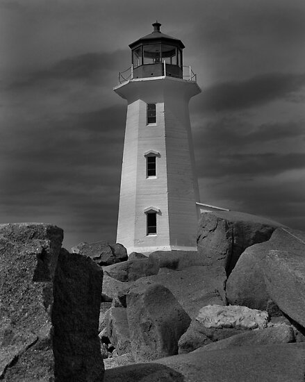 Lighthouse by Donald  Stewart