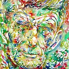 SAMUEL BECKETT watercolor portrait by lautir