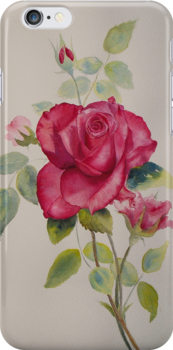 """Iphone Ipod """"Red rose"""" by Beatrice Cloake"""