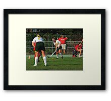 090712 193 0 pointillist field hockey 2 Framed Print