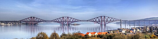 Train on the Forth Bridge by Tom Gomez