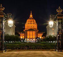 San Francisco City Hall in Orange by Daniel Leu