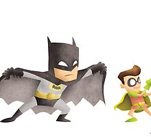 Batman & Robin by Jeff Crowther