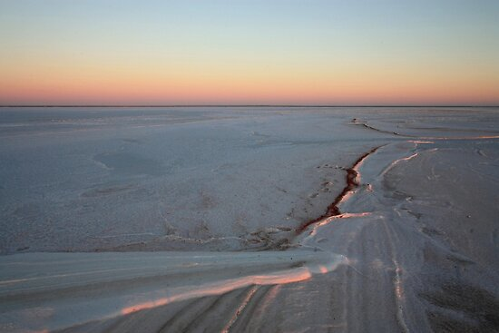 Golden Hour on Lake Eyre by Tim Coleman