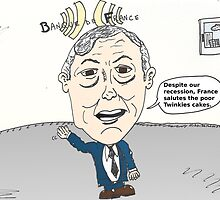 Caricature of Christian Noyer by Binary-Options
