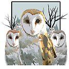 Barn Owl Pack by Adamzworld