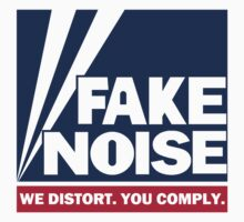 Fake Noise - white background by portispolitics