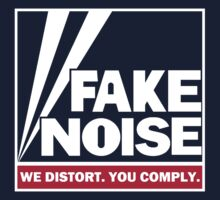 Fake Noise - Blue Background by portispolitics