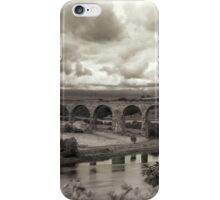 The Railway bridge in Berwick upon Tweed iPhone Case/Skin