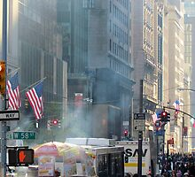 58th Street at 5th Avenue, New York City by Alberto  DeJesus