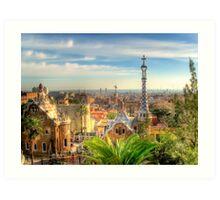 """""""Parc Guell"""" (Barcelona) Art Print"""