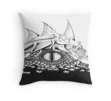 Baby Dragons with Mum Throw Pillow
