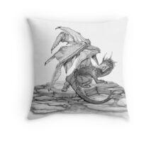 Scaly Dragon Throw Pillow