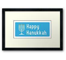 Hanukkah sticker Framed Print