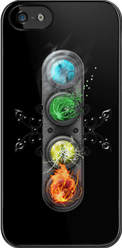 "Final Fantasy - Materia "" Elements"" (Black) iPhone case by Reverendryu"