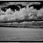 Clouds and Field Looking West on Rt 7, Dexter, ME by billwolff