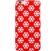 Snowflake, Red iPhone Case/Skin