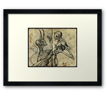 I'll burn in hell for you, my love Framed Print
