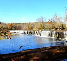 Haw River dam in Autumn by Samohsong
