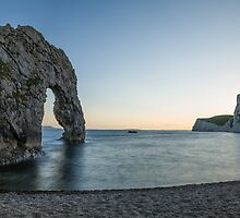 Sundown at Durdle Door by Ian Middleton