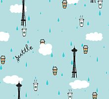 Seattle & Coffee (ipad) by skyekathryn