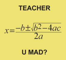 Quadratic Formula Teacher Mad by chaunce