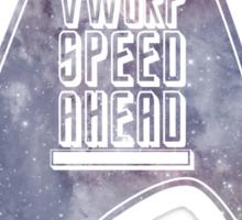VWORP SPEED AHEAD (alternate) Sticker