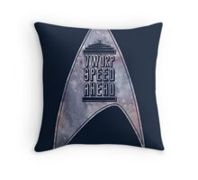 VWORP SPEED AHEAD (alternate) Throw Pillow
