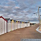 Great Yarmouth Beach Huts. by Lilian Marshall