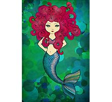 Mermaids have bad hair days, too. Photographic Print