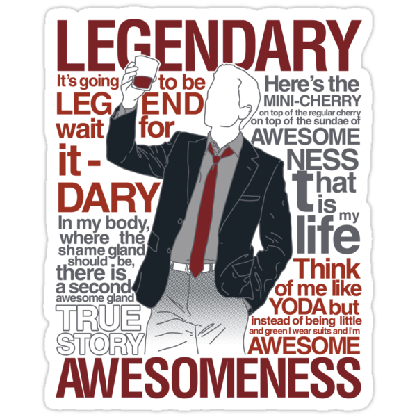 Barney Stinson - Legendary T-shirt of Awesomeness by Azafran