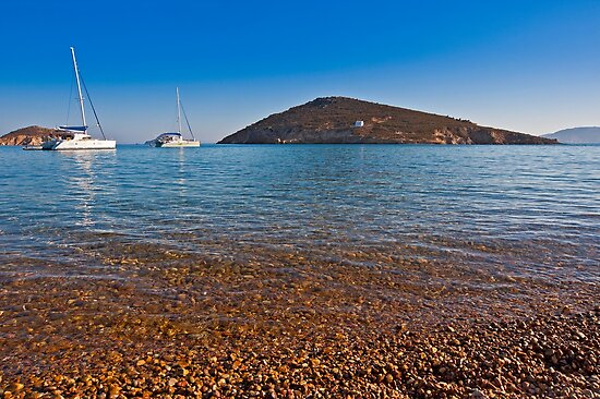 Livadhi Gheranou beach in Patmos Island by Konstantinos Arvanitopoulos