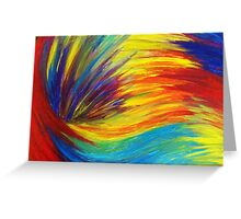 RAINBOW EXPLOSION - Vibrant Smile Happy Colorful Red Bright Blue Sunshine Yellow Abstract Painting  Greeting Card