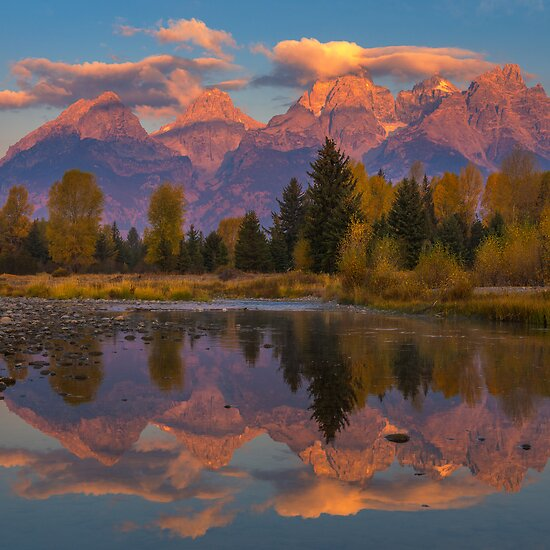 Teton Morning Mirror by joerossbach