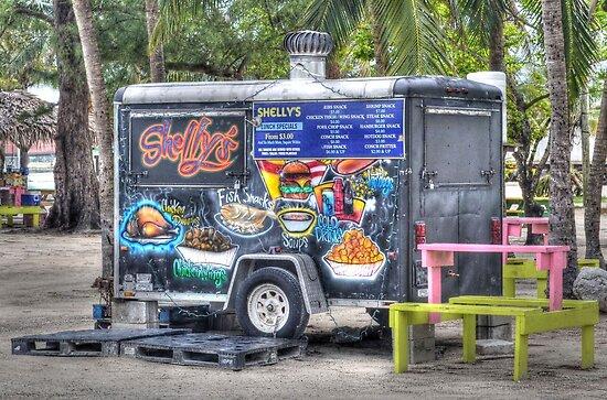 Food Van at Arawak Cay in Nassau, The Bahamas by 242Digital
