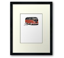 21 Window VW Bus Red/Black Framed Print